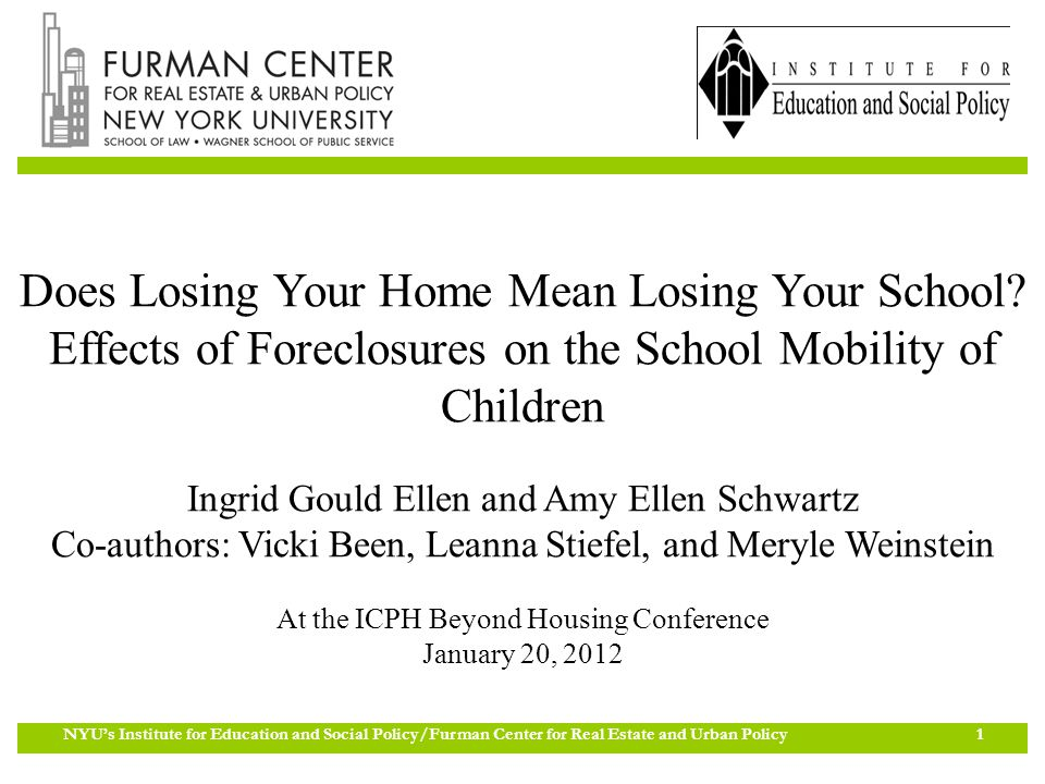 Nyus Institute For Education And Social Policyfurman Center For