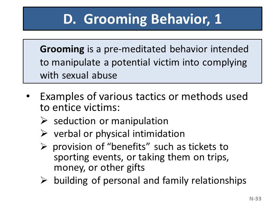 Grooming sexual behavior