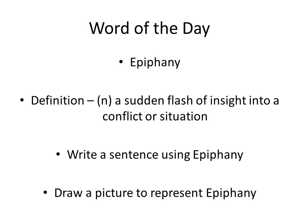 Word of the Day Denotation Definition – (n) the dictionary
