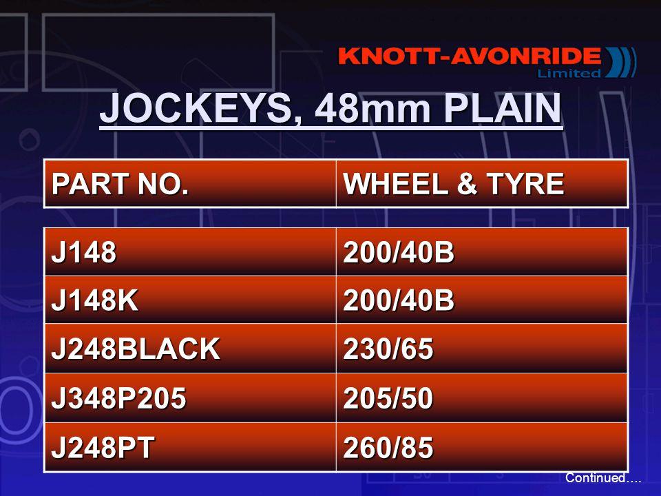 Genuine Knott Avonride 48mm Serrated Jockey Wheel 205x50