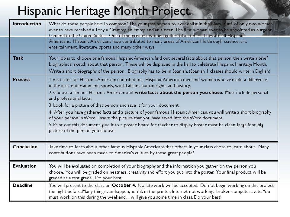 hispanic heritage month presentation introduction hispanic heritage