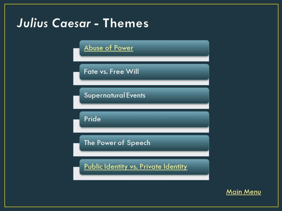 julius caesar supernatural events