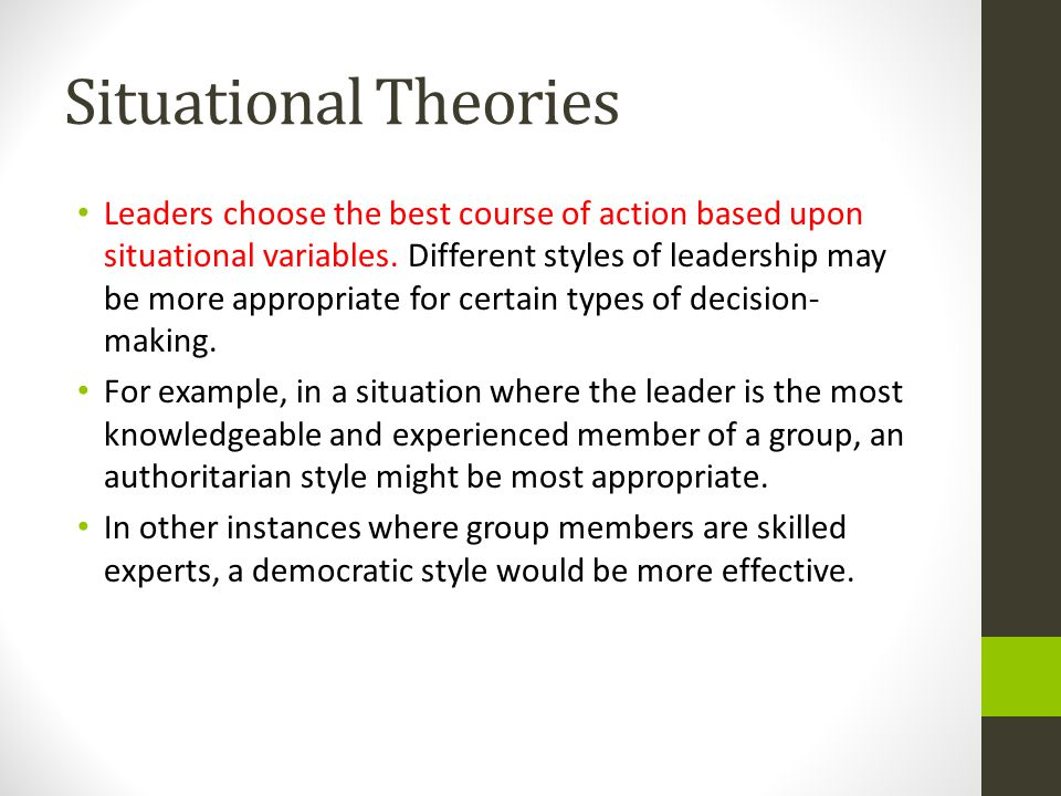 Leadership and governance Different types of leaders and