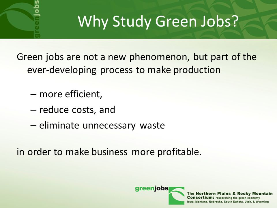 Why Study Green Jobs.