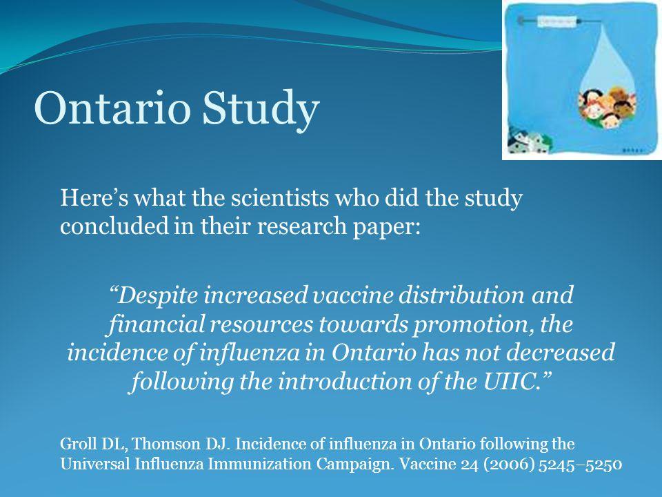 influenza research paper