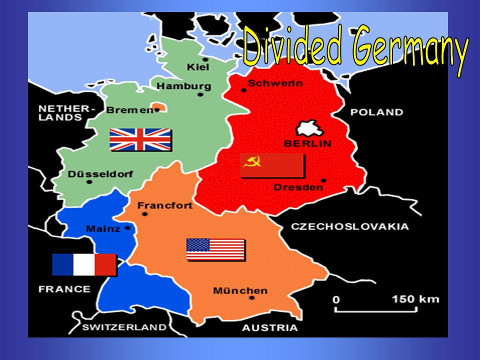 Map Of Germany After Wwii.The Cold War Struggle Between The World S Superpowers Ppt Download