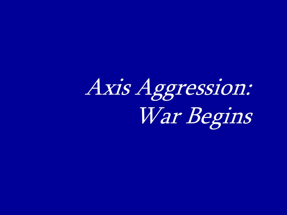 Axis Aggression:_ War Begins_
