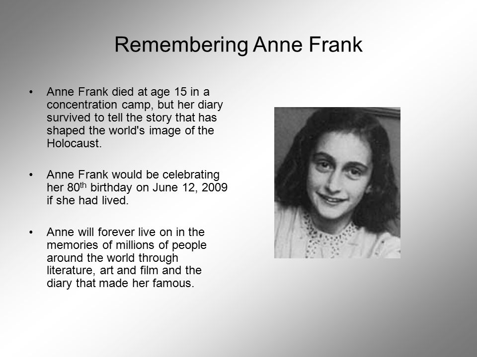 anne frank s message of accountability Watch video  stars: Émilie dequenne, fabrizio rongione, anne yernaux  about moral character, accountability, and spiritual redemption  its message that healing can only begin when there is a willingness to communicate and to be responsible for one's actions is as good as any that have been delivered in previous films.