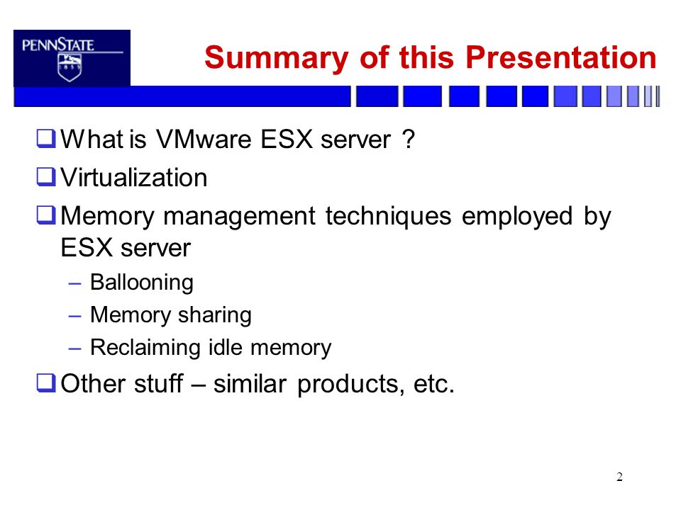 CSE 598B: Self-* Systems Memory Resource Management in