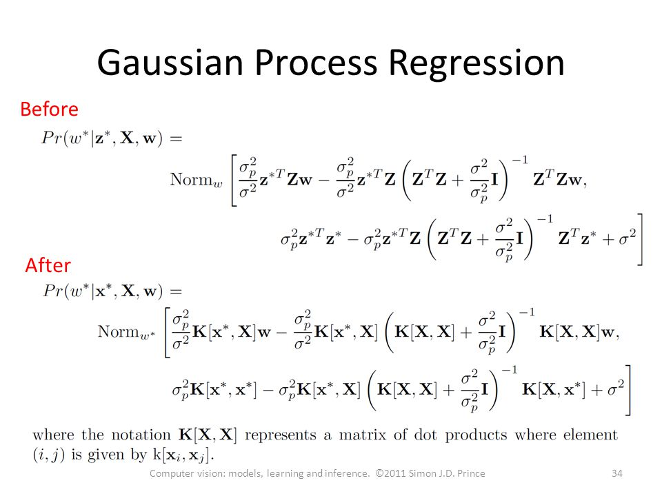 Gaussian Process Regression Before 34Computer vision: models, learning and inference.