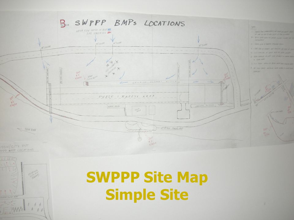 SWPPP Site Map Simple Site