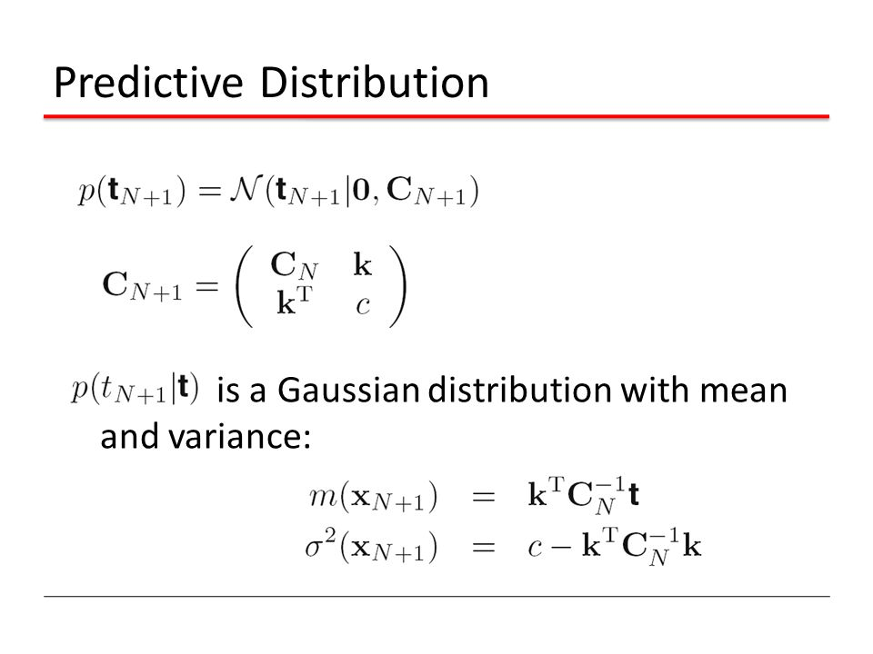 Predictive Distribution is a Gaussian distribution with mean and variance: