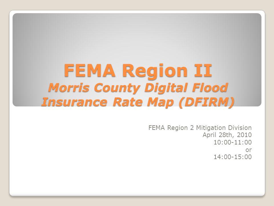 FEMA Region II Morris County Digital Flood Insurance Rate Map DFIRM - Digital flood insurance rate map