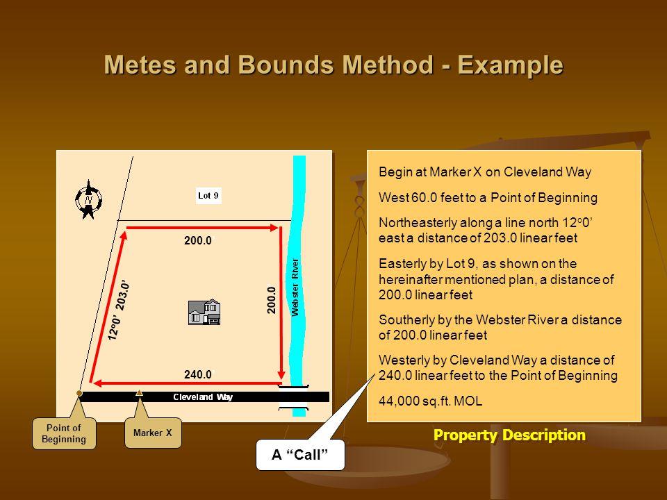 Real Estate Law Legal Descriptions Of Property Real Estate Law Legal