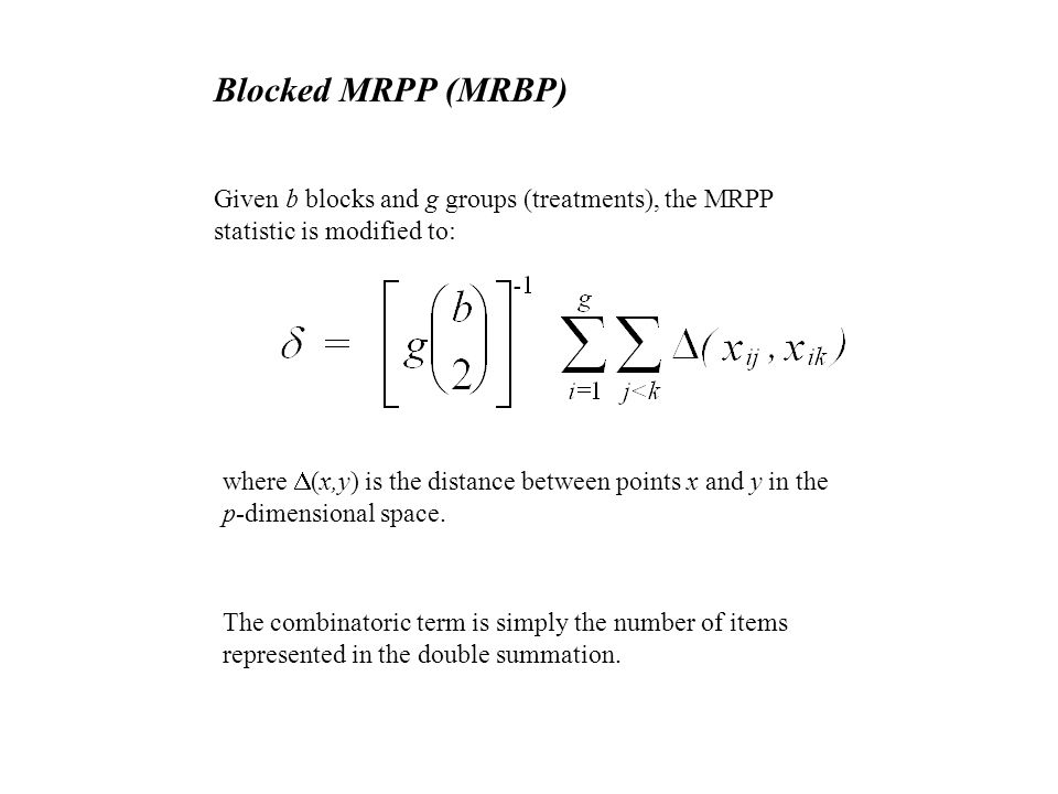 CHAPTER 24 MRPP (Multi-response Permutation Procedures) and