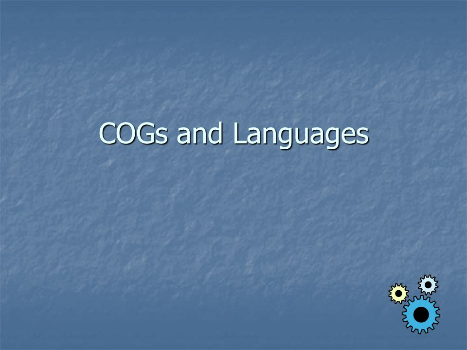 COGs and Languages