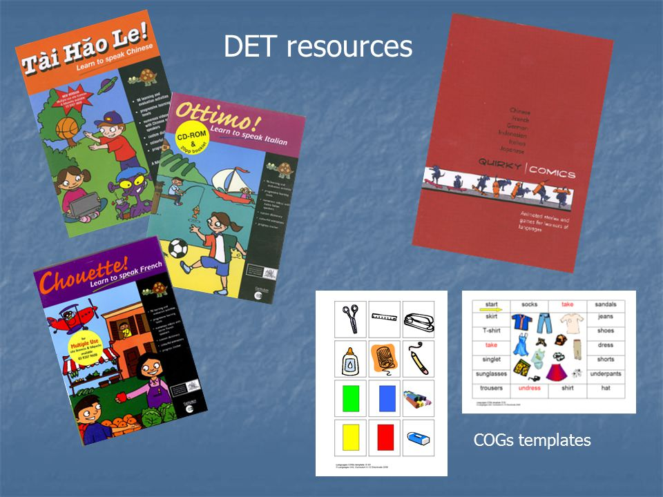 DET resources COGs templates