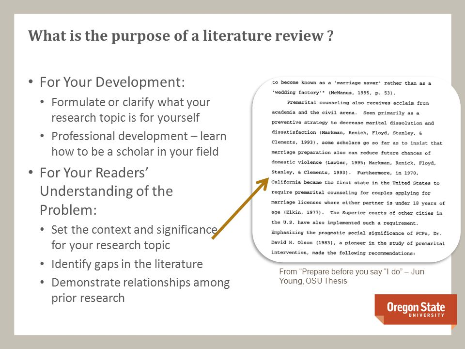 purpose of a literature review essay The literature review often appears near the start of your dissertation, and is a key part of your overall dissertation structure remember - a good literature review not only provides important background to your own dissertation writing, but also helps to show where your dissertation will fit into the field.