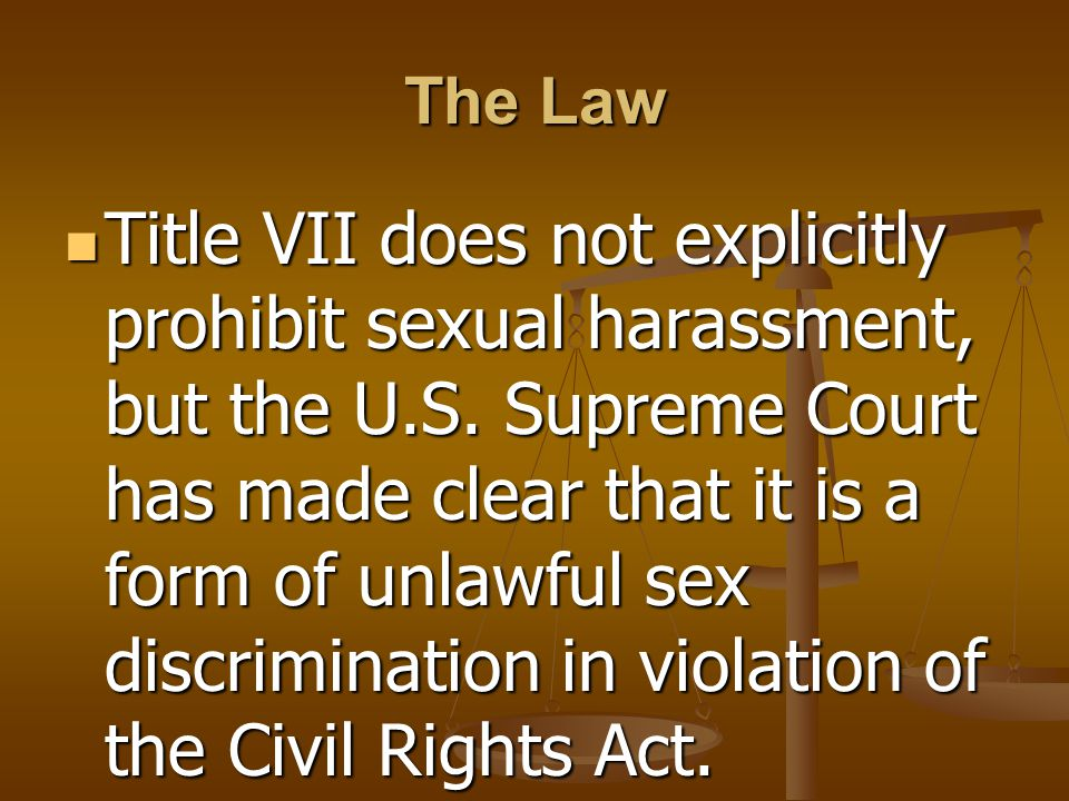Sexual harassment act title vii violations