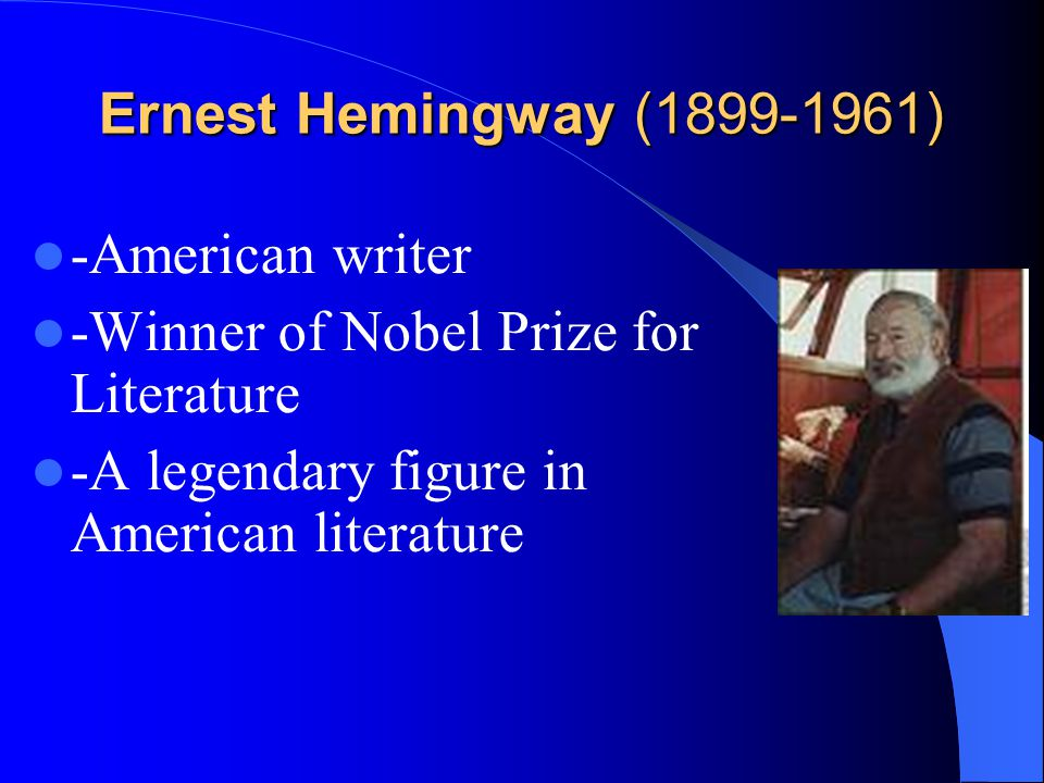 Earnest Hemingway Yuan Xuemei Foreign Languages Department
