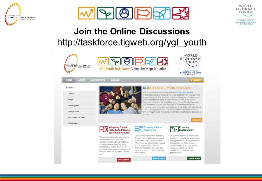 Join the Online Discussions