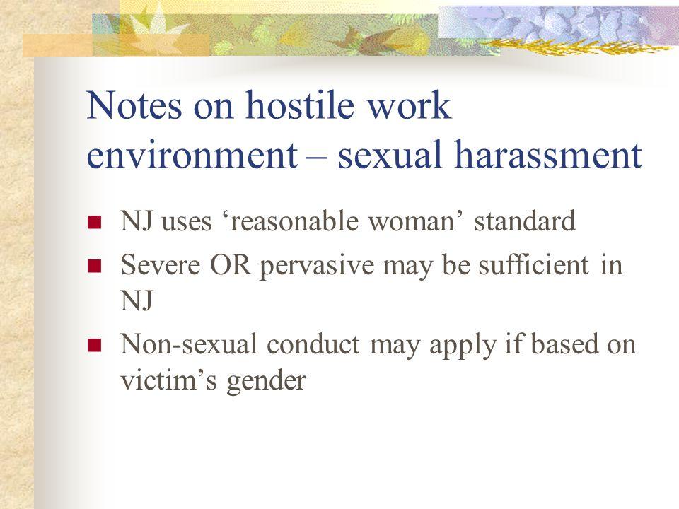 Non-sexual hostile work environment