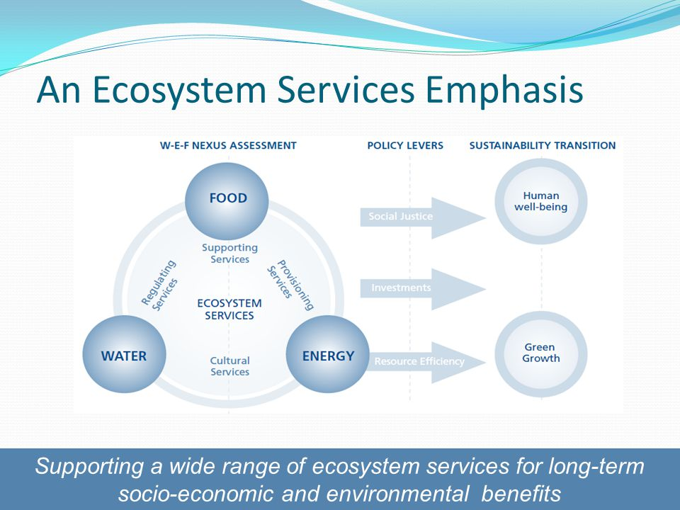 An Ecosystem Services Emphasis Supporting a wide range of ecosystem services for long-term socio-economic and environmental benefits