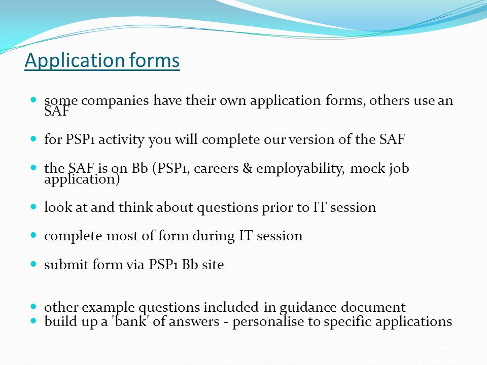 why look at application forms now application forms used for many
