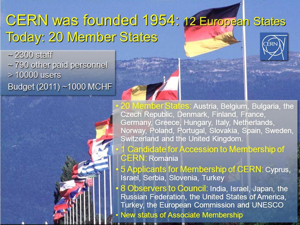 Resultado de imagen para CERN 12 STATES