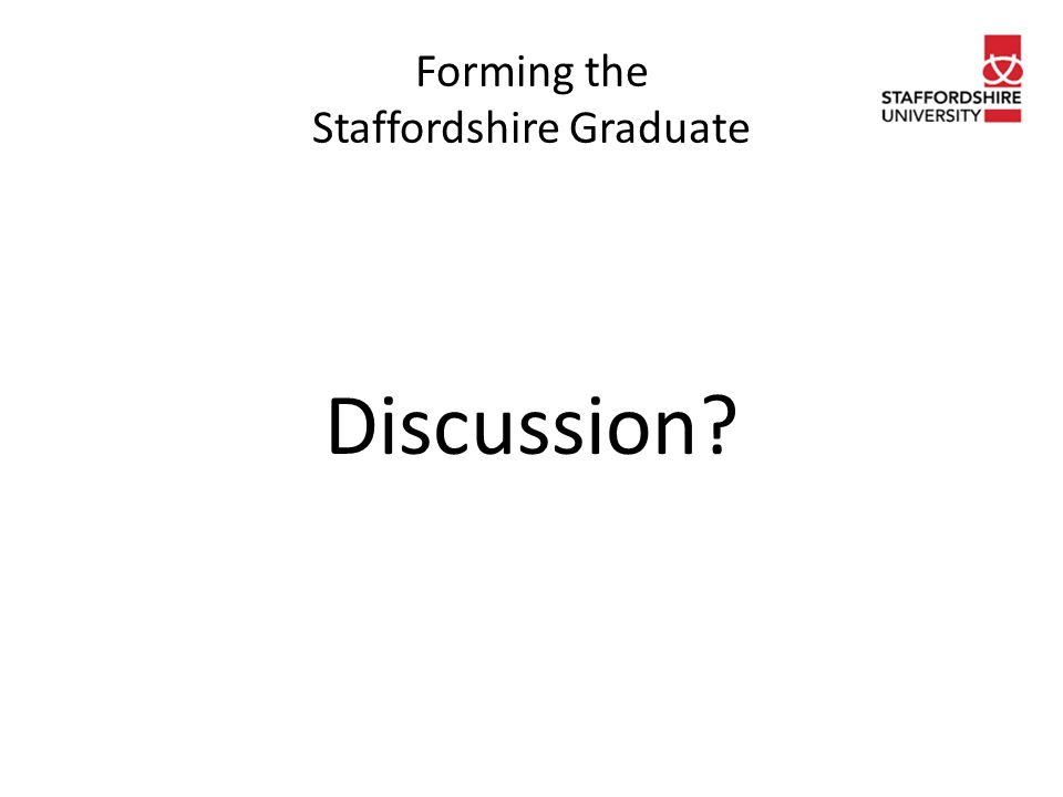 Forming the Staffordshire Graduate Discussion