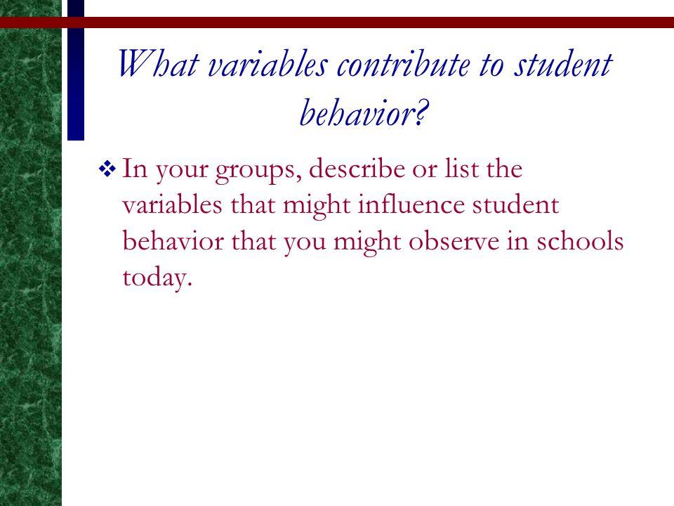 good student behavior list