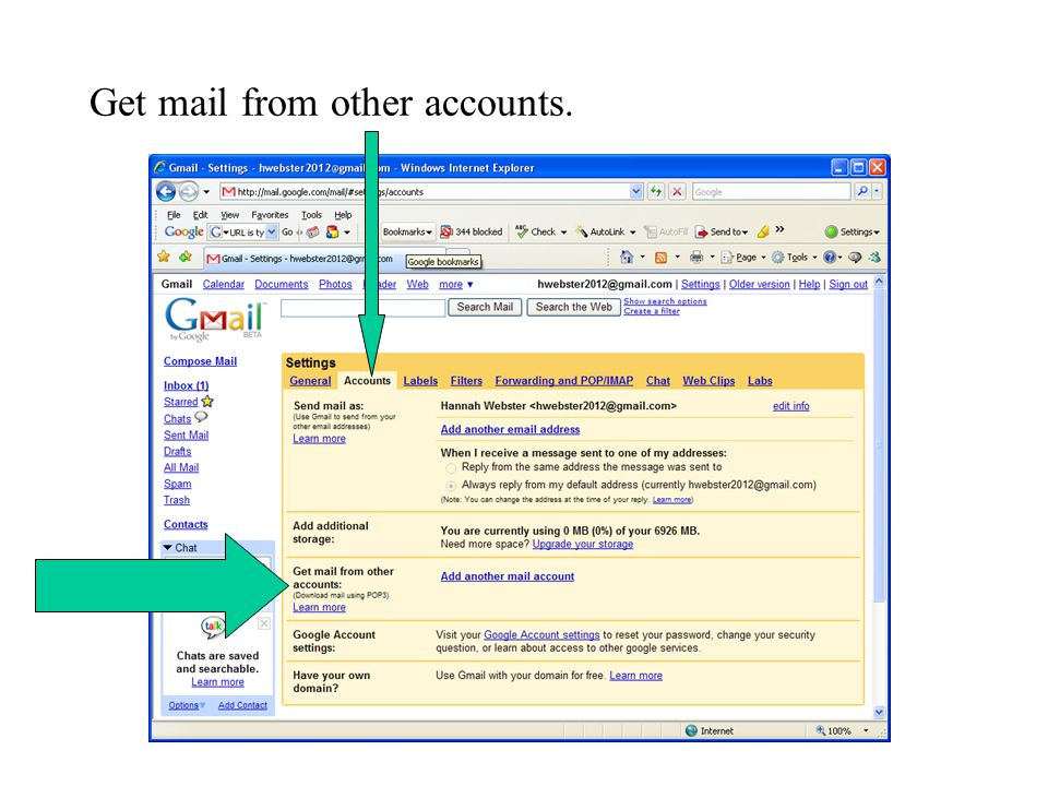 Get mail from other accounts.