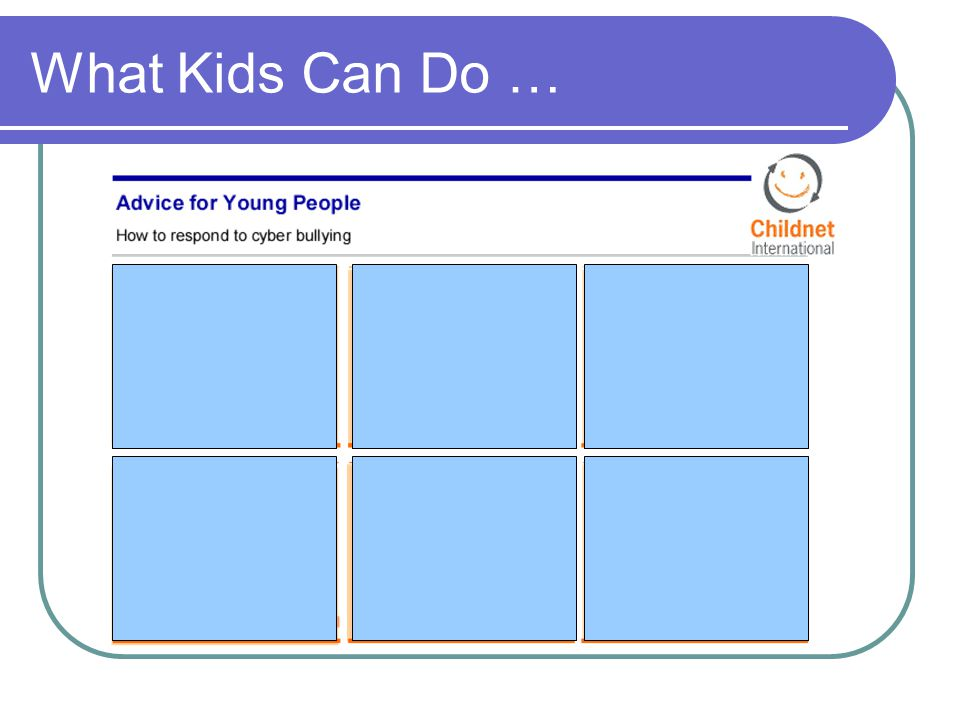 What Kids Can Do …