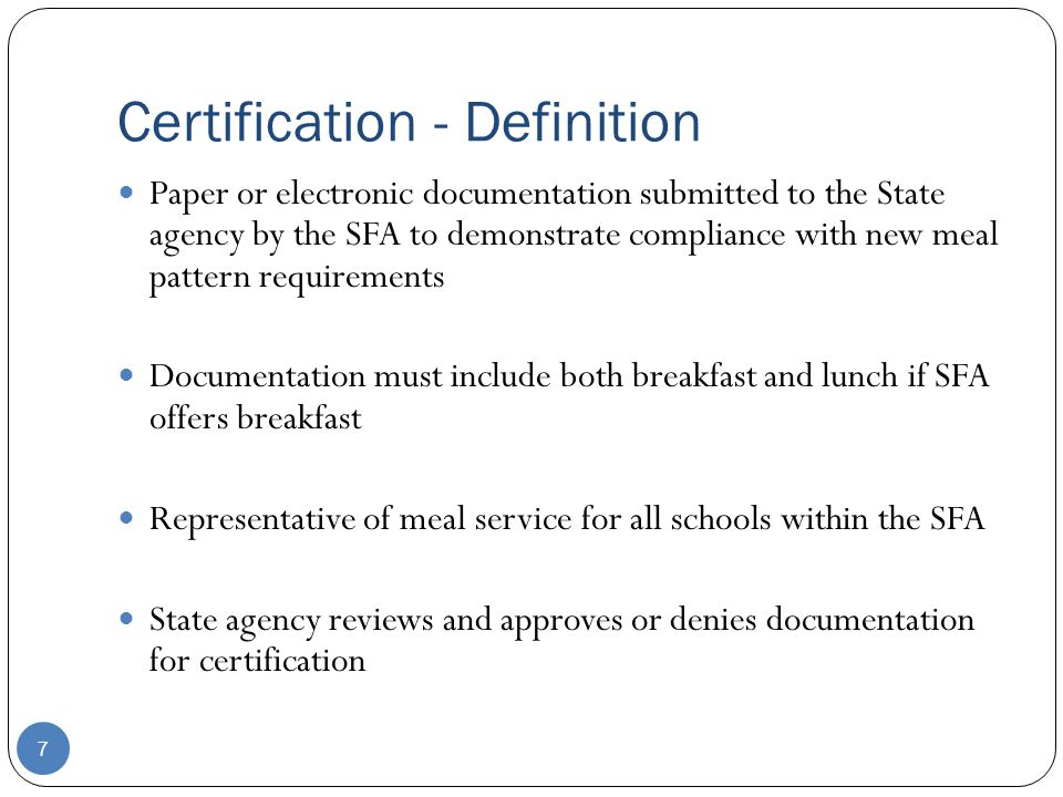 1 Certification Of Compliance With New Meal Pattern Requirements