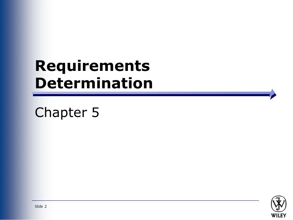 Requirements Determination Chapter 5 Slide 2