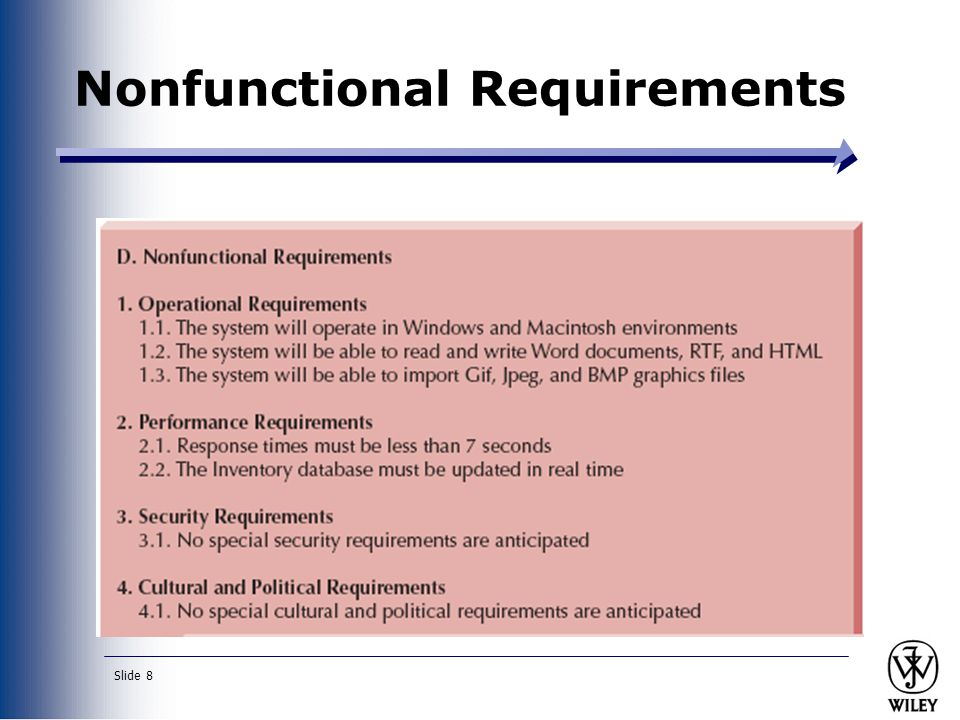 Slide 8 Nonfunctional Requirements
