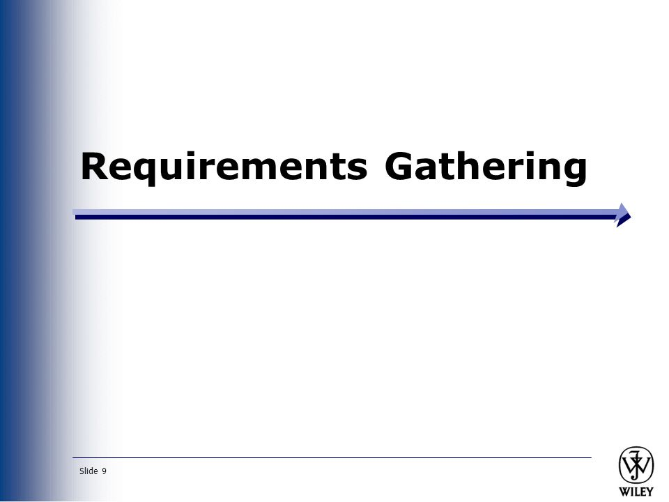 Slide 9 Requirements Gathering