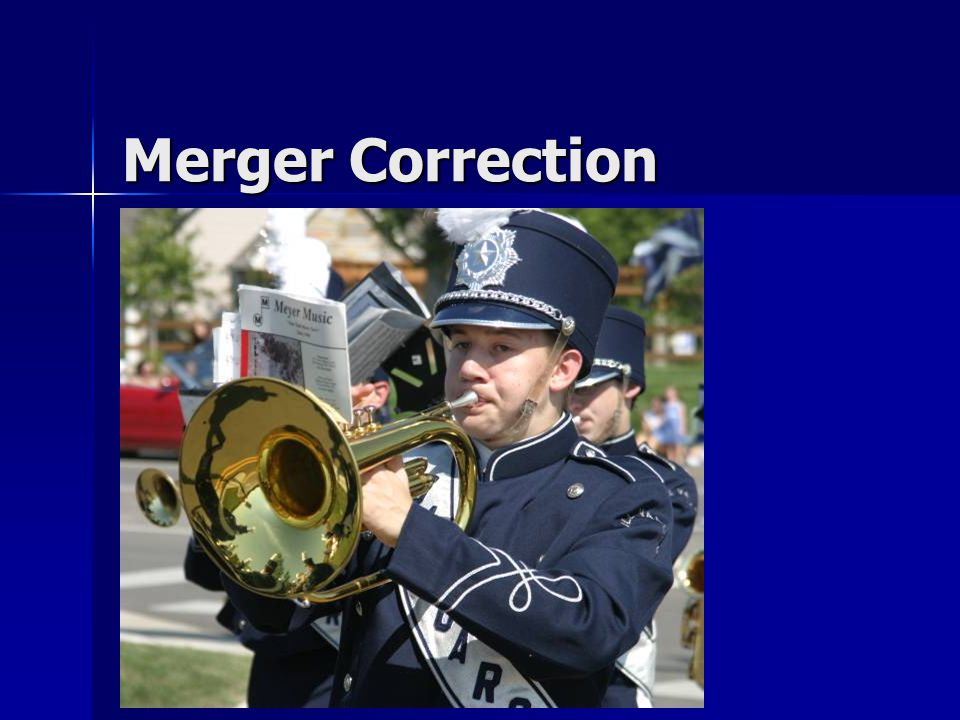 Merger Correction