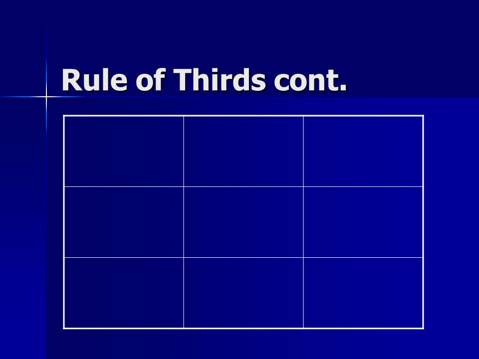Rule of Thirds cont.