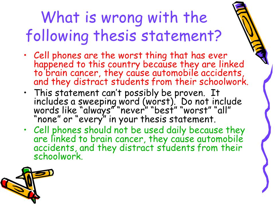 Why Do You Need a Thesis Sentence/Statement?