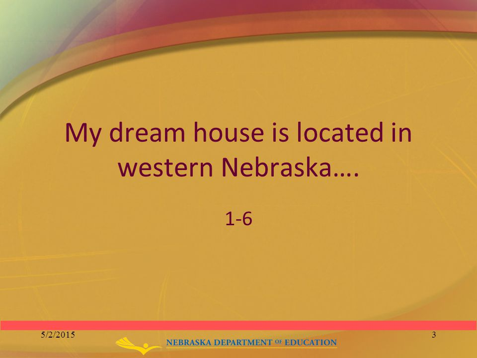 write about your dream house