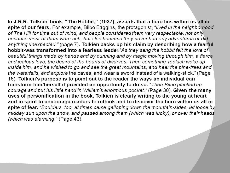 the hobbit literary analysis