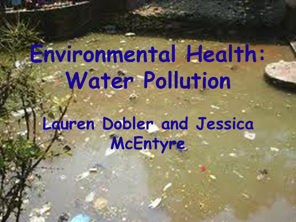 Environmental Health: Water Pollution Lauren Dobler and Jessica McEntyre