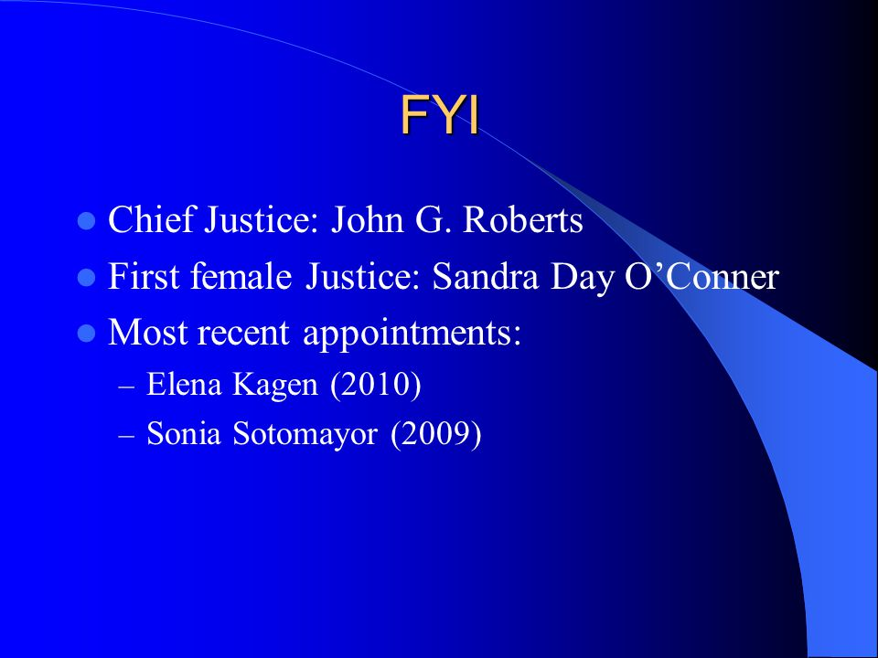 FYI Chief Justice: John G.