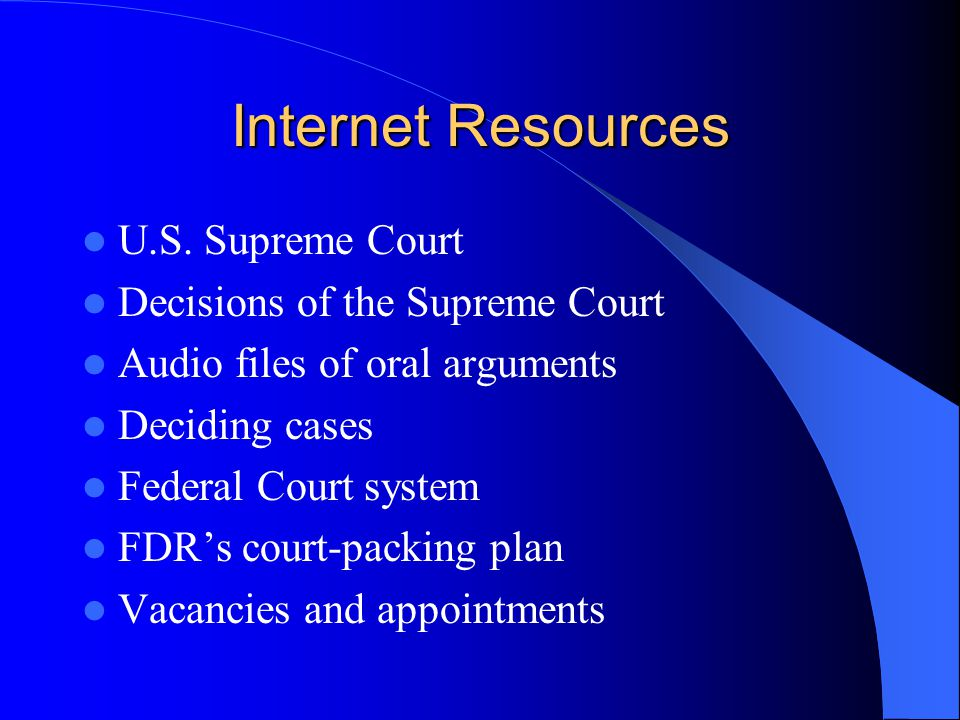 Internet Resources U.S.