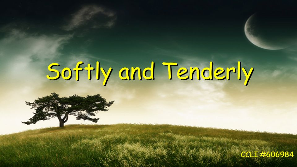 Softly and Tenderly CCLI #606984