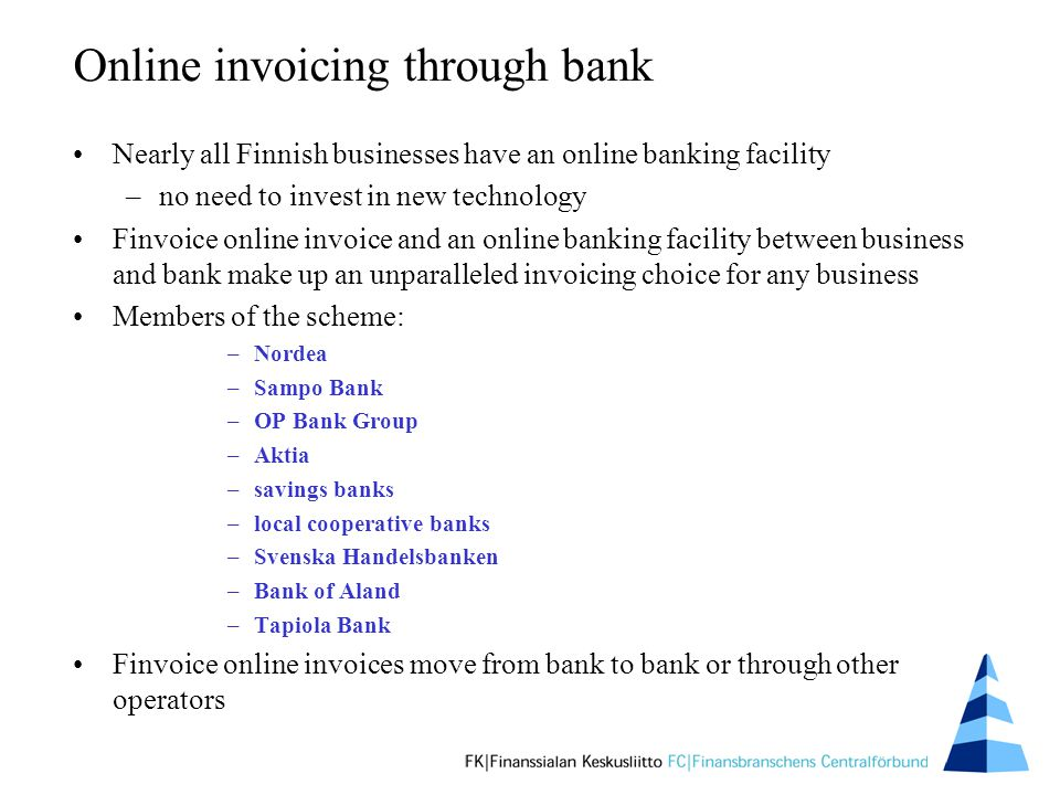 Finvoice An Online Invoice For Businesstobusiness Payments - Invoices for business