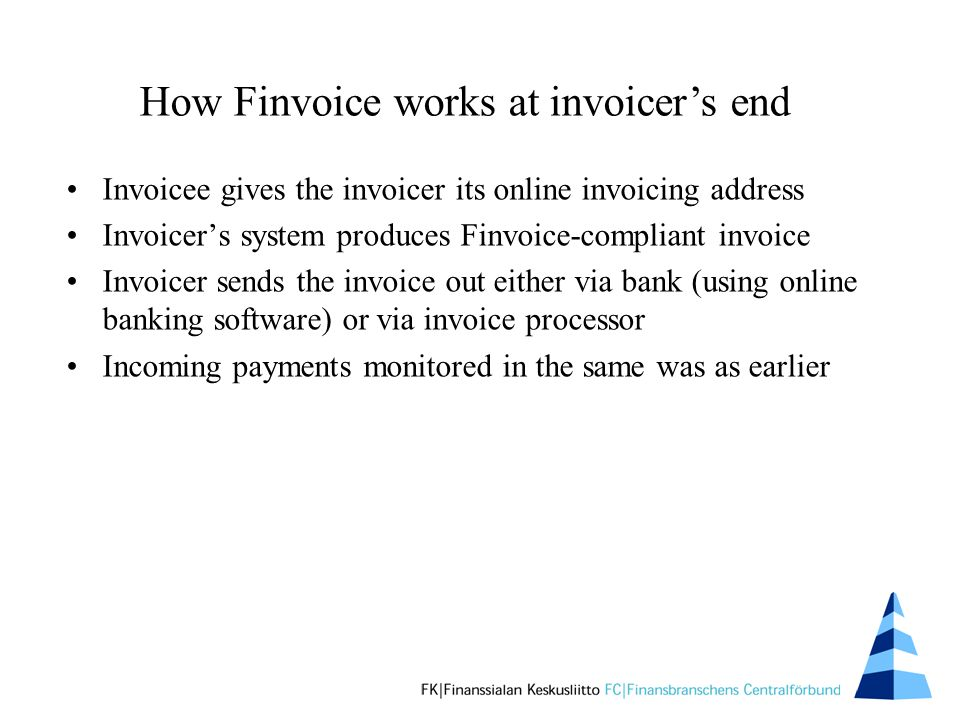 finvoice an online invoice for business to business payments