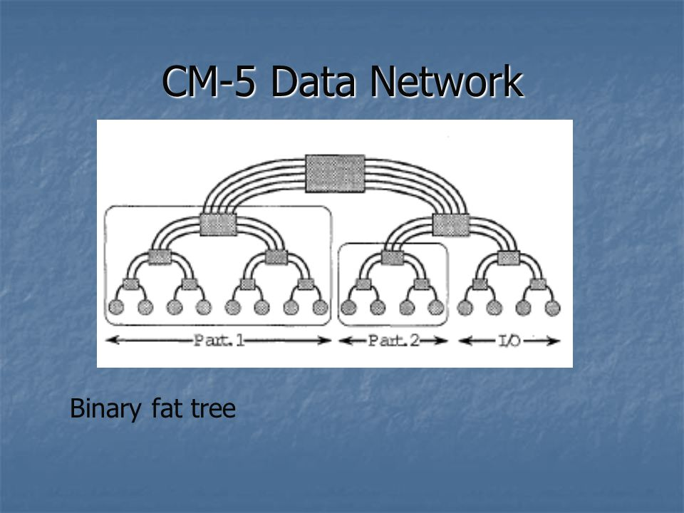 CM-5 Data Network Binary fat tree