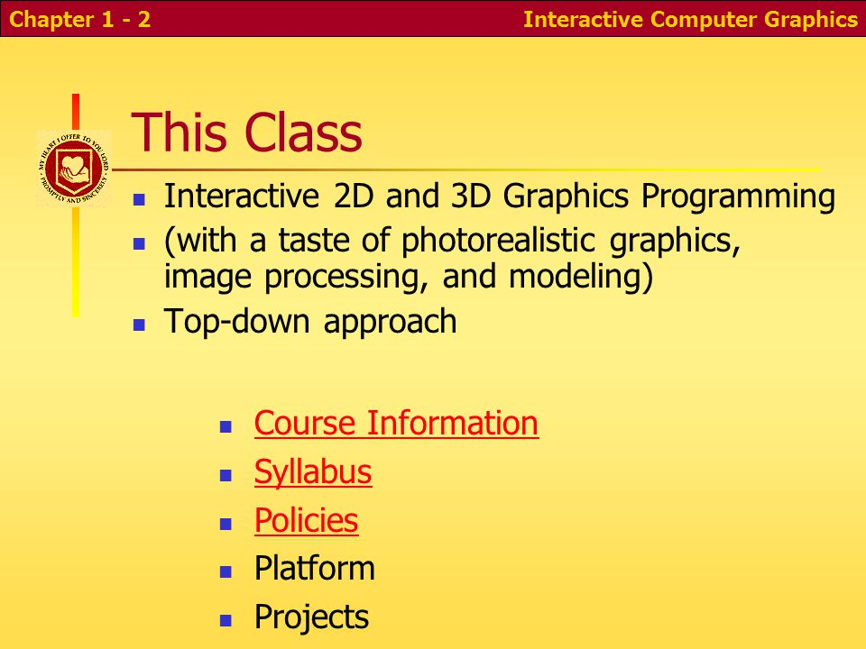 Cs 352: Interactive 2D and 3D Computer Graphics  Interactive